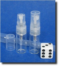 Atomizer - Clear Glass - Clear Sprayer - 3ml