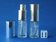 Glass Atomizers - Circle  Or, Ribbed - 1/4oz (8mL)