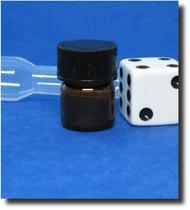 Amber Glass Vial w/Threaded Cap 1/4 Dram