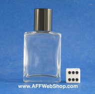 Photo of one ounce bottle with smooth-black plastic cap