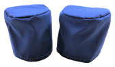 2 Winch Covers Large WeatherMax80 Royal Polyester #92 Bonded Thread