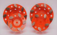 Orange Oval Cup Wheel