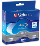 Verbatim Blu-ray BD-R 25GB 6X Branded, 10-Pack (97238)