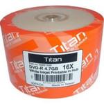 Titan DVD-R 4.7GB 16X White Inkjet  Hub Printable, 100-PK (T6891189)