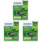 CASIO TR-18BK  Black Ribbon Tape for CW-50/75/100/L300, 3-PK (TR-18BK-3P)