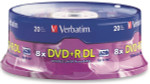 Verbatim DVD+R DL 8.5GB 8X Dual Layer Branded, 20-Pack