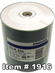 Philips CD-R 80 White Inkjet Hub Printable, 100-Pack