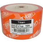 Titan DVD-R 4.7GB 16X White Thermal Hub Printable, 100-PK (T6891191)