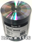 Spin-X  CD-R 80 Silver/Diamond (True Silver), 100-Pack