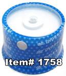 Spin-X  DVD-R 4.7GB 16X White Inkjet Hub Printable, 100-Pack