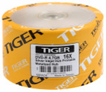 Tiger DVD-R 4.7 GB Silver Inkjet Hub Printable, 100-Pack