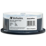 Verbatim BD-R DL 50GB 6X DataLifePlus White Inkjet Hub Printable, 25-PK (97334)