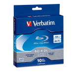 Verbatim Blu-ray BD-R DL 50GB 6X 10pk Spindle Box (97335)