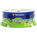 Verbatim CD-RW 700MB 12X Branded, 25-Pack (95155)