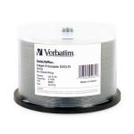 Verbatim DataLifePlus DVD-R 16X White Inkjet Printable, 50-Pk (95078)