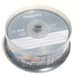 Philips CD-RW 700MB 12X Branded, 25-Pack