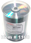 CMC Pro (TY) CD-R 80 Silver Lacquer, 100-Pack (T-CDR-ZZ-SB)