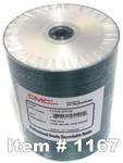 CMC Pro (TY) CD-R 80 Silver Inkjet Hub Printable, 100-Pack