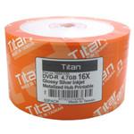 Titan DVD-R 4.7GB 16X Glossy Silver Inkjet Hub Printable, 100-Pack