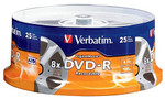 Verbatim DVD-R 4.7GB 8X - DigitalMovie Surface - 25pk Spindle - 94866