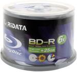 Ritek RiData Blu-Ray 25GB BD-R 6X White Inkjet Hub Printable, 50-Pack