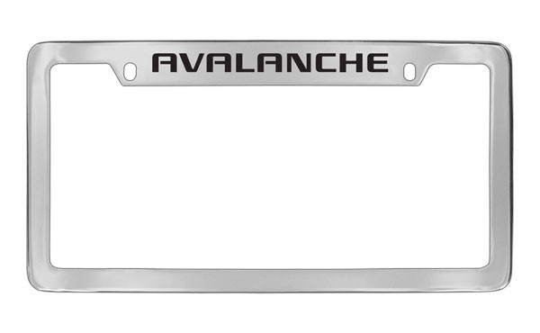 Chevrolet Avalanche Top Engraved Chrome Plated Brass