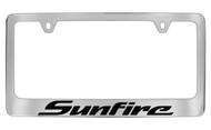 Pontiac Sunfire Block Letters License Plate Frame