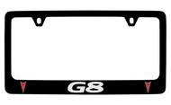 Pontiac G8 Black Coated Zinc License Plate Frame with Silver Imprint