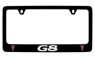 Pontiac G8 Black Coated Zinc License Plate Frame with Silver Imprint