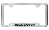 Pontiac Sunfire Bottom Engraved Chrome Plated Brass Black Imprint