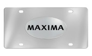 Nissan Maxima Chrome Plated Solid Brass Emblem Attached To a Stainless Steel Plate