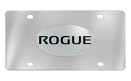 Nissan Rogue Chrome Plated Solid Brass Emblem Attached To a Stainless Steel Plate