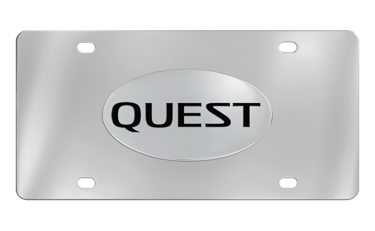 Nissan Quest Chrome Plated Metal License Plate Frame Holder