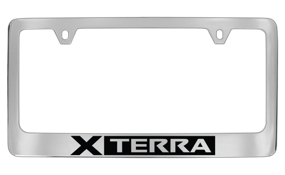 Nissan Xterra Official Chrome License Plate Frame Tag Holder