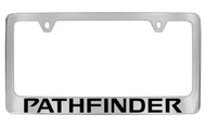 Nissan Pathfinder Official Chrome License Plate Frame Tag Holder
