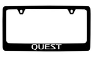 Nissan Quest Black Coated Metal License Plate Frame Holder