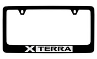 Nissan Xterra Black Coated Metal License Plate Frame Holder