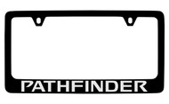 Nissan Pathfinder Black Coated Metal License Plate Frame Holder