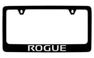 Nissan Rogue Black Coated Metal Bottom Engraved License Plate Frame Holder
