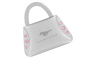 Mustang Purse Shape Keychain Embellished with Swarovski Crystals (FOKCYP-P300-E)