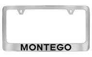 Mercury Montego Chrome Plated Solid Brass License Plate Frame