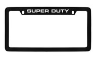 Ford Super Duty Top Engraved Black Coated Zinc License Plate Frame Holder with Silver Imprint