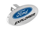 "Ford Logo Oval Trailer Hitch Cover Plug with 1.25"" Stainless Steel Post"