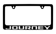 Dodge Journey Black Coated Zinc License Plate Frame Holder with Silver Imprint