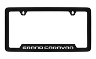 Dodge Grand Caravan Black Coated Zinc Bottom Engraved License Plate Frame
