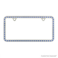 Premium Chrome Plated Zinc License Plate Frame Holder Embellished with Swarovski Crystals (LFZCY301-B-2H)