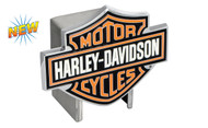 Harley-Davidson Hitch Cover 3 Color Harley-Davidson Bar & Shield Logo Emblem Plus Hitch Ball Post Components (HDHCBE25)