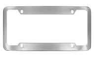 Chrome Plated Wide Top & Bottom 4 Hole Plain License Plate Frame 4 Hole (LF323-4H)