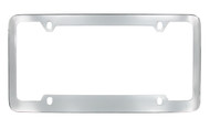 Chrome Plated Plain License Plate Frame 4 Hole (LF324-4H)