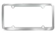 Chrome Plated Plain License Plate Frame with Medium Rim 4 Hole